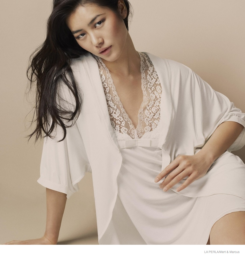 la perla sleepwear swimwear 2014 fall08 More Photos of Liu Wen, Mariacarla Boscono & Daria Strokous Revealed for La Perla
