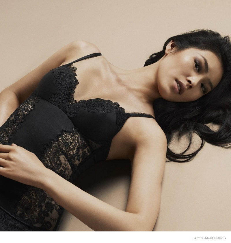 la perla sleepwear swimwear 2014 fall10 More Photos of Liu Wen, Mariacarla Boscono & Daria Strokous Revealed for La Perla