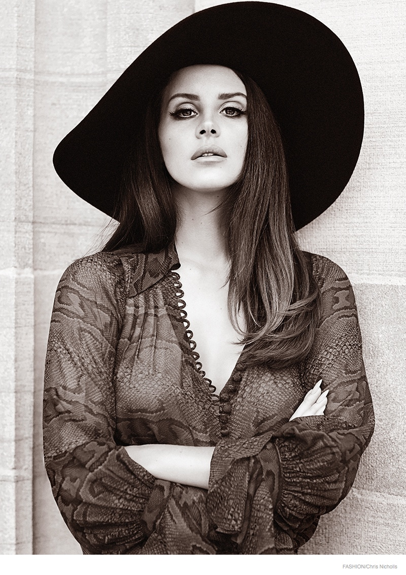 lana del rey chris nicholls 2014 03 More Images of Lana Del Rey for FASHION Magazine by Chris Nicholls