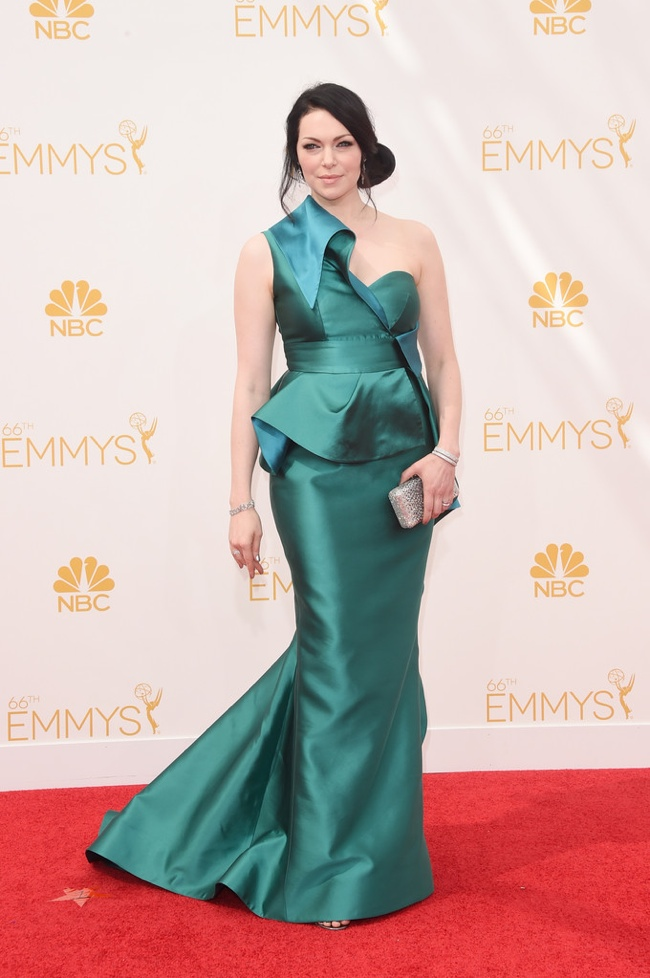 Laura Prepon dazzled in a green Gustavo Cadile gown
