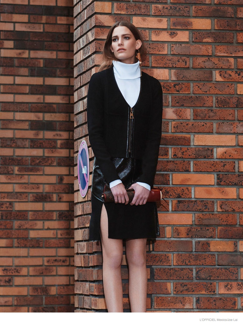 lena hardt model02 New Retro: Lena Hardt for LOfficiel Mexico September 2014 by Joe Lai