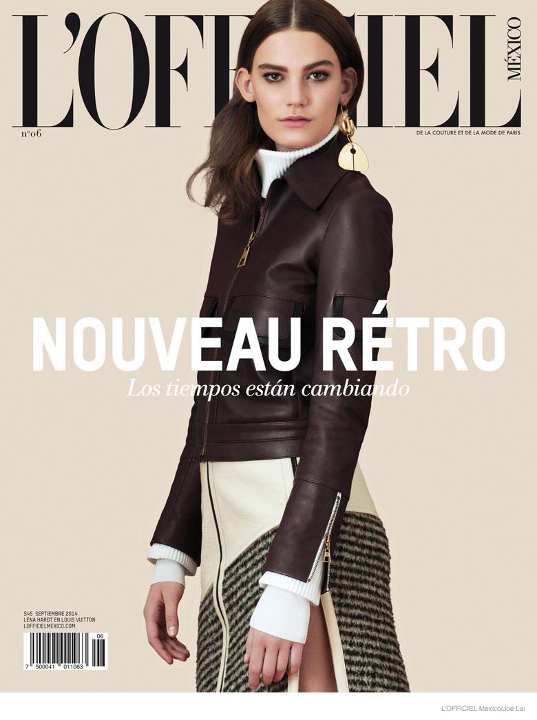 lena hardt model08 New Retro: Lena Hardt for LOfficiel Mexico September 2014 by Joe Lai