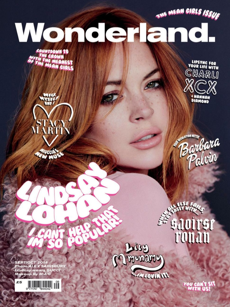 "Lindsay Lohan, Barbara Palvin & More Pose for Wonderland's ""Mean Girls"" Covers"