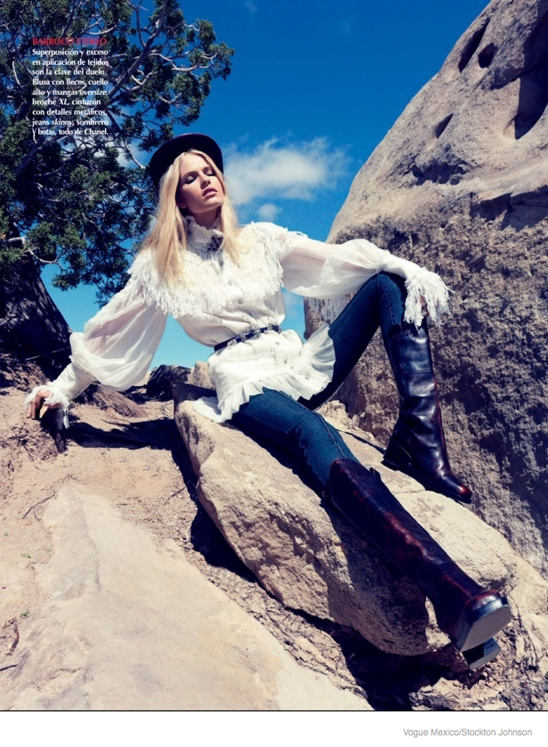 louise parker cowgirl style fashion2 Texas Cowgirl: Louise Parker by Stockton Johnson for Vogue Mexico
