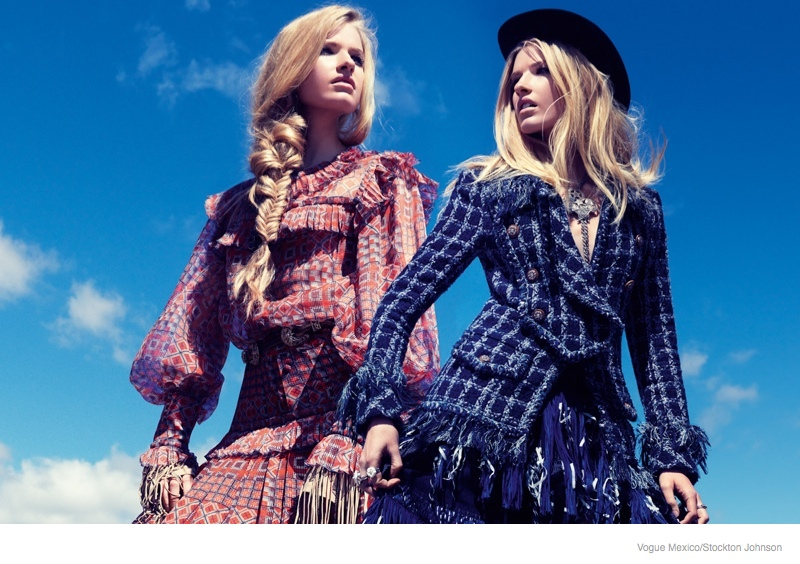 louise parker cowgirl style fashion4 Texas Cowgirl: Louise Parker by Stockton Johnson for Vogue Mexico