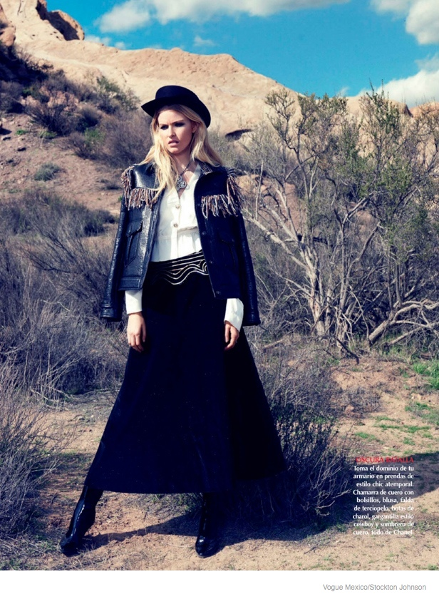 louise parker cowgirl style fashion6 Texas Cowgirl: Louise Parker by Stockton Johnson for Vogue Mexico