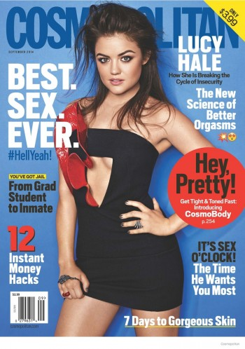 "Lucy Hale Covers Cosmopolitan, Talks ""Fifty Shades of Grey"" Audition"