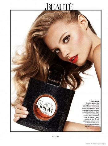 Magdalena Frackowiak Poses with Fragrance Bottles for Vogue Paris by Giampaolo Sgura