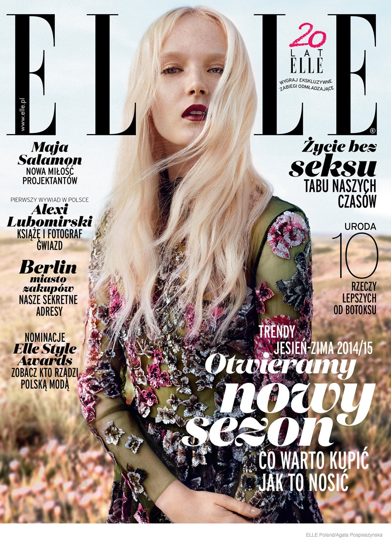 maja salamon outdoors shoot 2014 08 Maja Salamon Poses Outdoors for ELLE Poland by Agata Pospieszynska