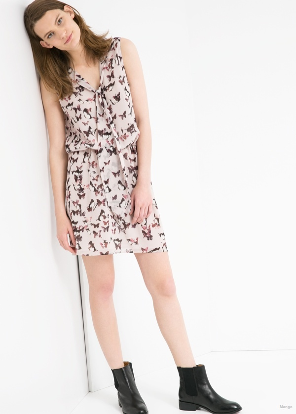 Butterfly Print Dress available at Mango for $79.99