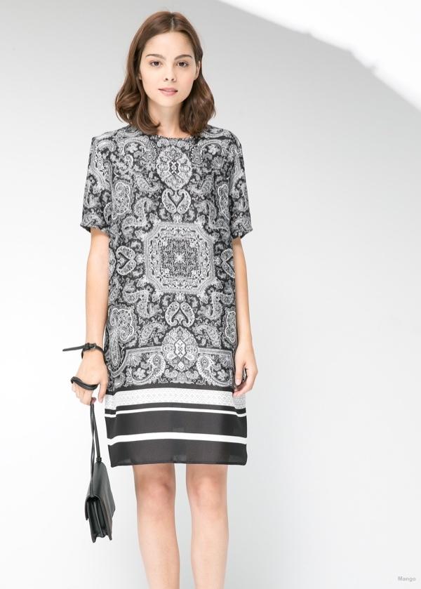 Paisley Print Dress available at Mango for $59.99