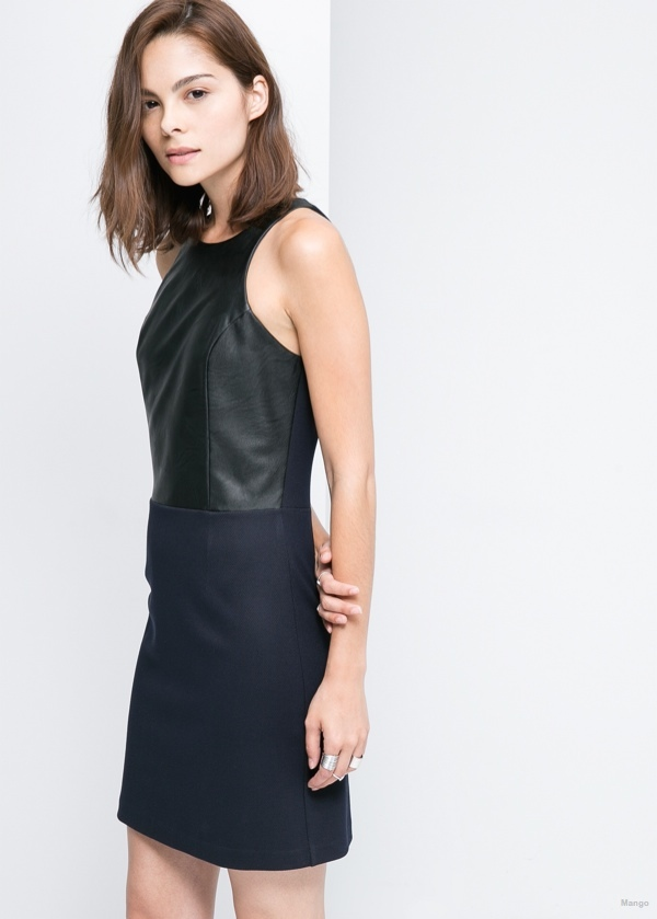 mango panel contrast dress 8 Cute Dresses for Under $100