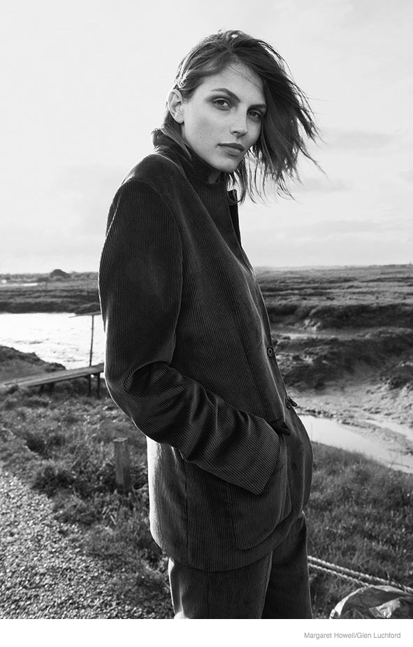 Karlina Caune Wears Outerwear in Margaret Howell Fall 2014 Campaign