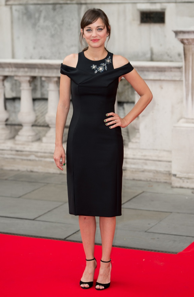 "Marion Cotillard Wears Little Black Dior Dress at ""Two Days, One Night"" Premiere"