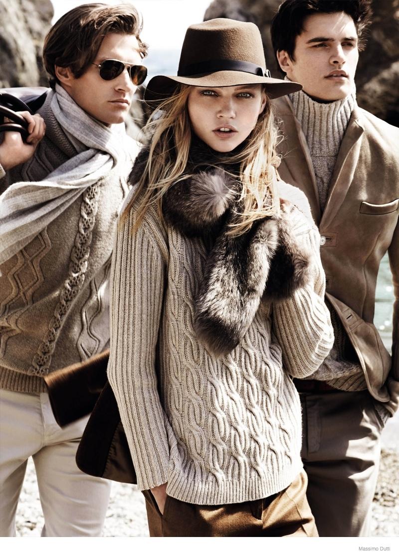 massimo dutti 2014 fall winter ad campaign 1 Sasha Pivovarova Leads Massimo Duttis Fall 2014 Campaign