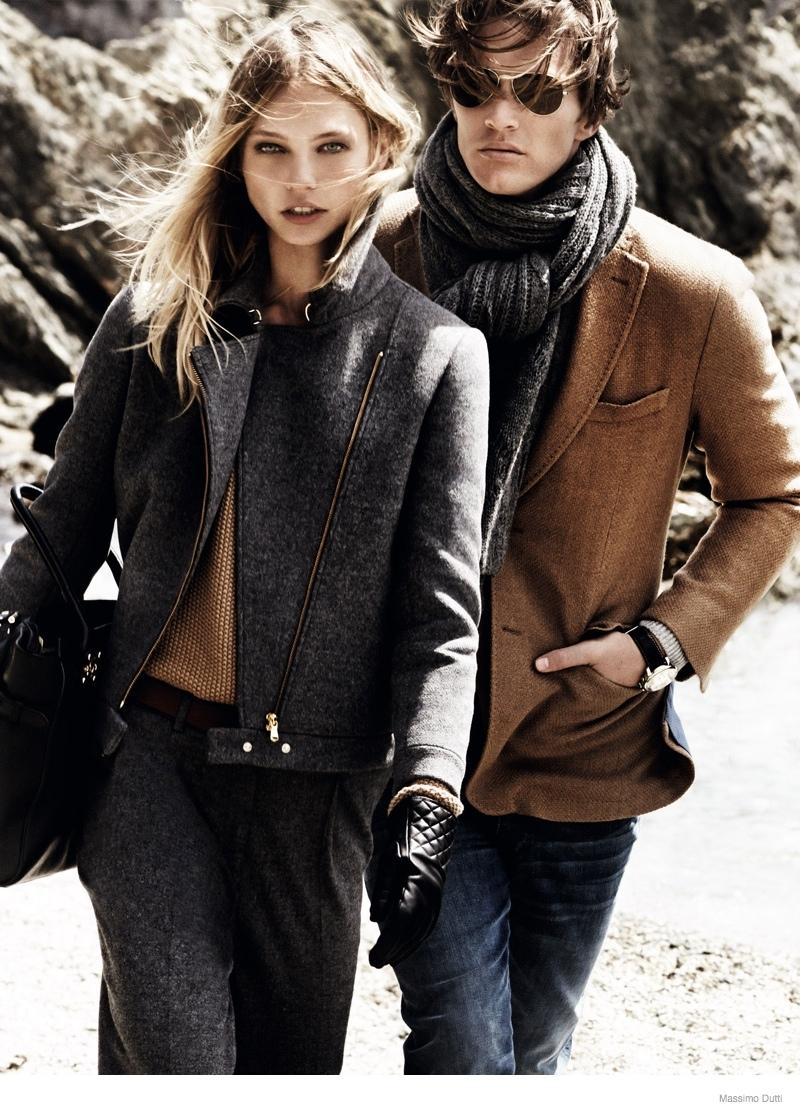 massimo dutti 2014 fall winter ad campaign 3 Sasha Pivovarova Leads Massimo Duttis Fall 2014 Campaign