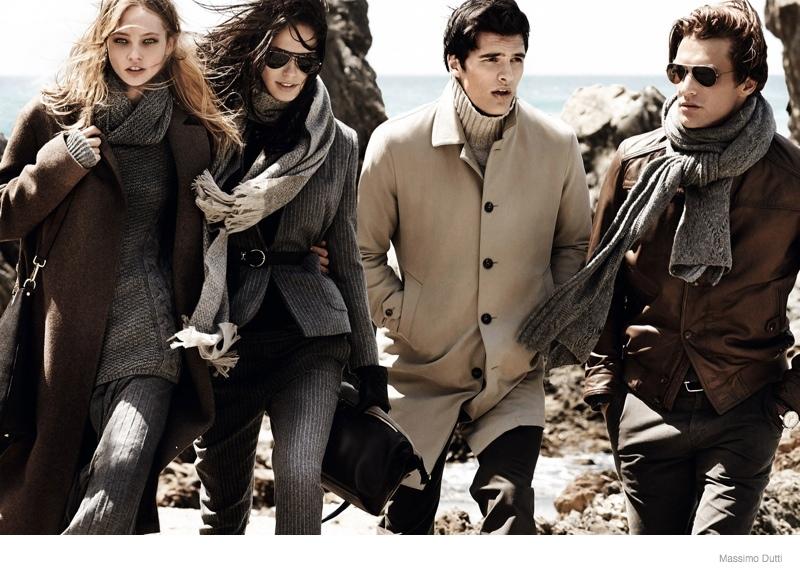 massimo dutti 2014 fall winter ad campaign 4 Sasha Pivovarova Leads Massimo Duttis Fall 2014 Campaign