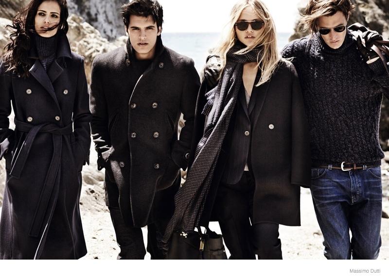 massimo dutti 2014 fall winter ad campaign 5 Sasha Pivovarova Leads Massimo Duttis Fall 2014 Campaign