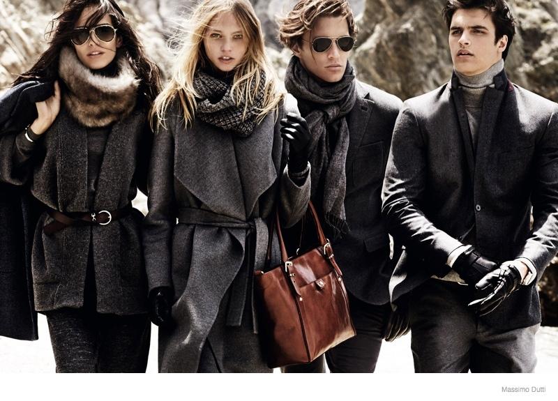 massimo dutti 2014 fall winter ad campaign 6 Sasha Pivovarova Leads Massimo Duttis Fall 2014 Campaign