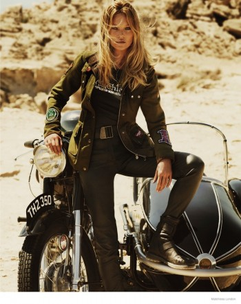 Kate Moss in Biker Jackets for Matchless London's Fall 2014 Ads