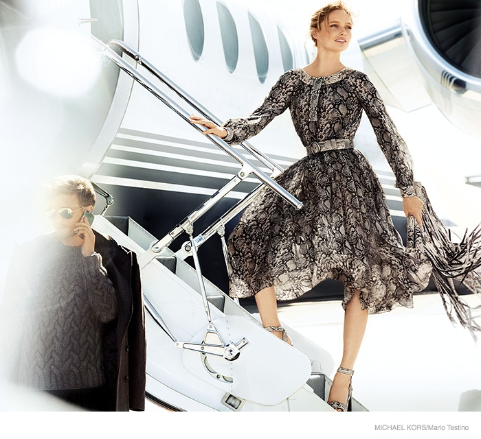 michael kors 2014 fall ad campaign02 Karmen Pedaru is LA Glam for Michael Kors Fall 2014 Campaign