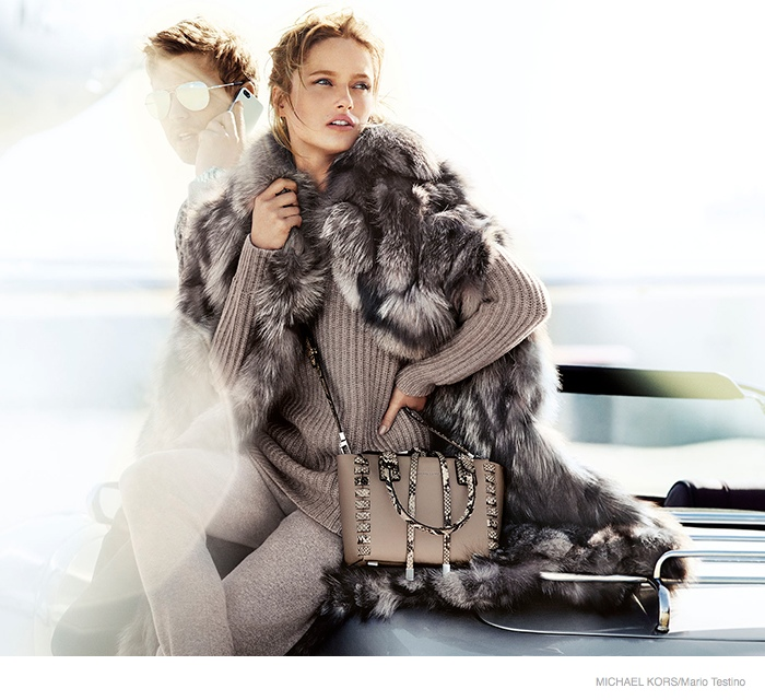 michael kors 2014 fall ad campaign03 Karmen Pedaru is LA Glam for Michael Kors Fall 2014 Campaign