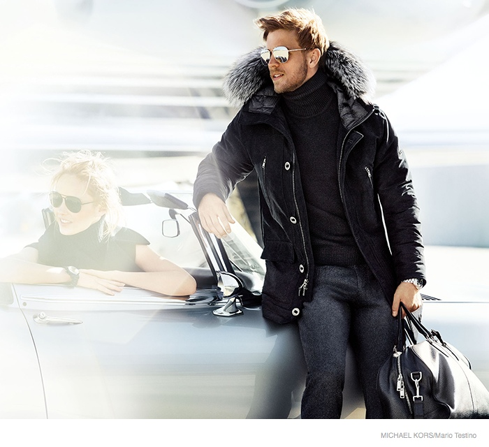 michael kors 2014 fall ad campaign04 Karmen Pedaru is LA Glam for Michael Kors Fall 2014 Campaign