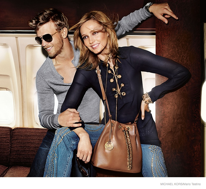 michael kors 2014 fall ad campaign06 Karmen Pedaru is LA Glam for Michael Kors Fall 2014 Campaign