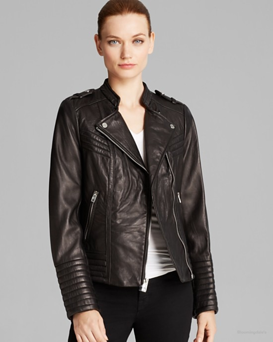 MICHAEL Michael Kors Moto Jacket Asymmetric available at Bloomingdale's for $405.00