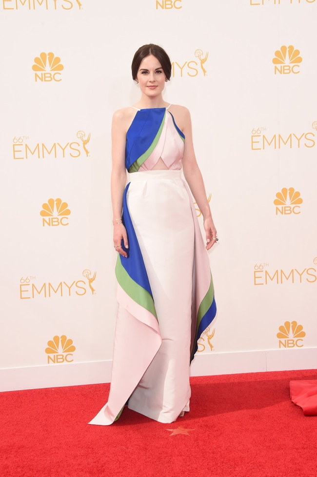 michelle dockery Rosie Assoulin dress emmys 2014 Emmys Red Carpet Style