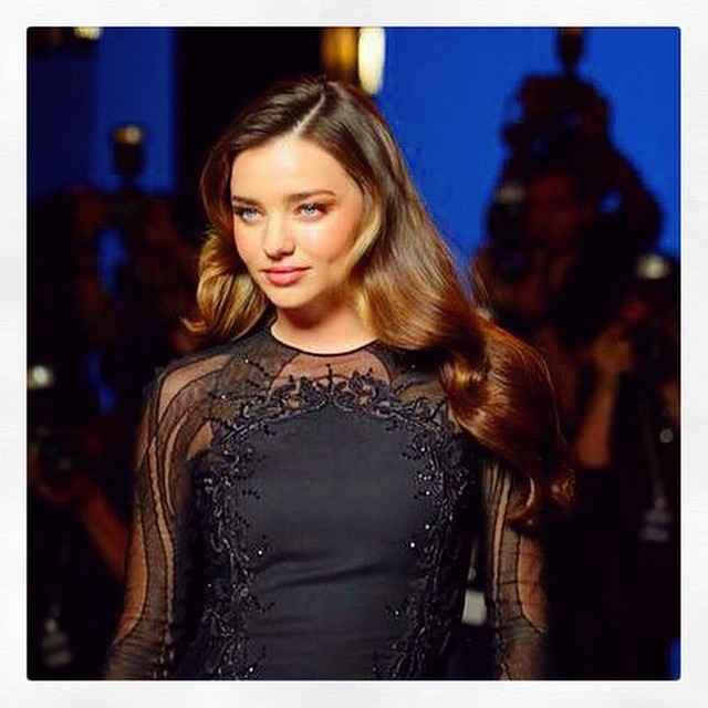 Miranda Kerr behind the scenes at Clear Hair shoot