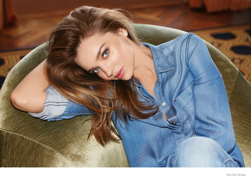 miranda kerr denim style02 Miranda Kerr Wears Denim Style for Into the Gloss Feature