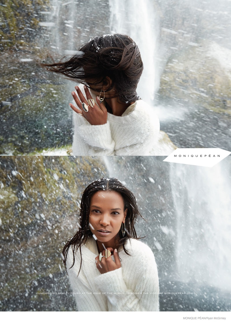 monique pean jewelry 2014 fall ad campaign01 Liya Kebede Gets Icy for Monique Pean Fall 2014 Jewelry Ads by Ryan McGinley