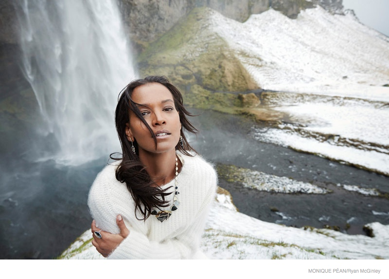 monique pean jewelry 2014 fall ad campaign02 Liya Kebede Gets Icy for Monique Pean Fall 2014 Jewelry Ads by Ryan McGinley
