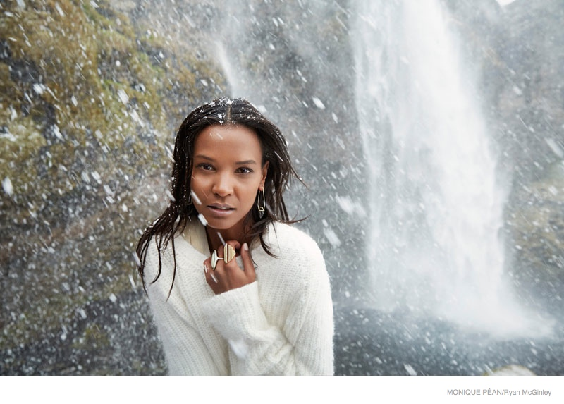 monique pean jewelry 2014 fall ad campaign04 Liya Kebede Gets Icy for Monique Pean Fall 2014 Jewelry Ads by Ryan McGinley