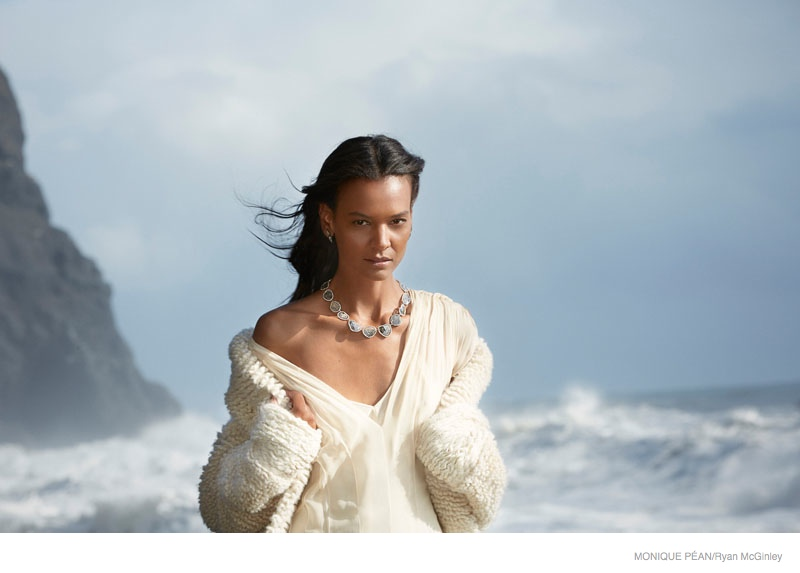 monique pean jewelry 2014 fall ad campaign05 Liya Kebede Gets Icy for Monique Pean Fall 2014 Jewelry Ads by Ryan McGinley