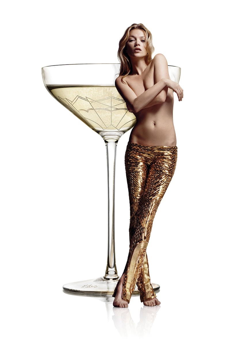 Restaurant Models Champagne Glass After Kate Moss' Left Breast