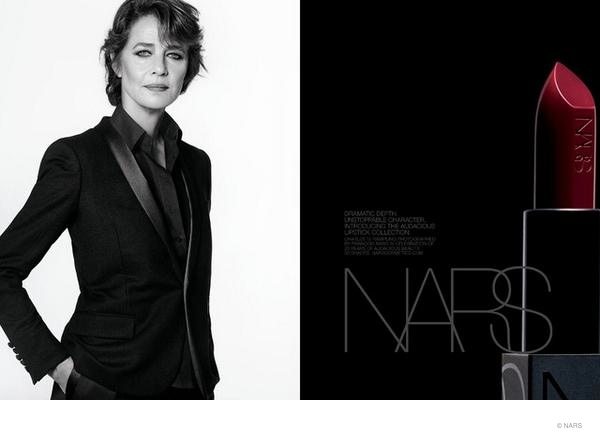 nars cosmetics charlotte rampling ad 68 Year Old Charlotte Rampling Stars in NARS Cosmetics Fall Makeup Ad