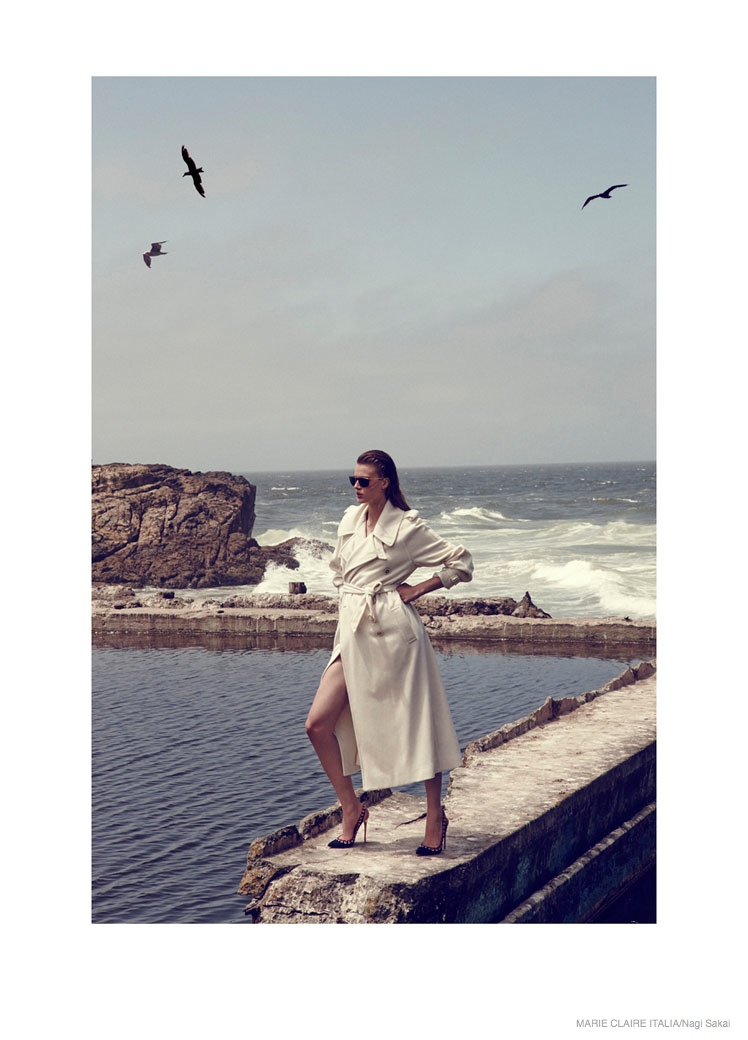 nautical sailor fashion shoot11 Tess Hellfeuer in Nautical Style for Marie Claire Italia by Nagi Sakai