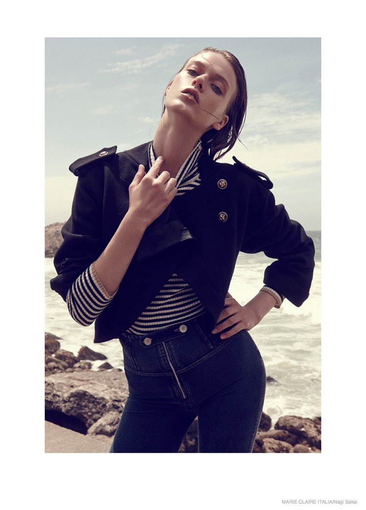 nautical sailor fashion shoot13 Tess Hellfeuer in Nautical Style for Marie Claire Italia by Nagi Sakai