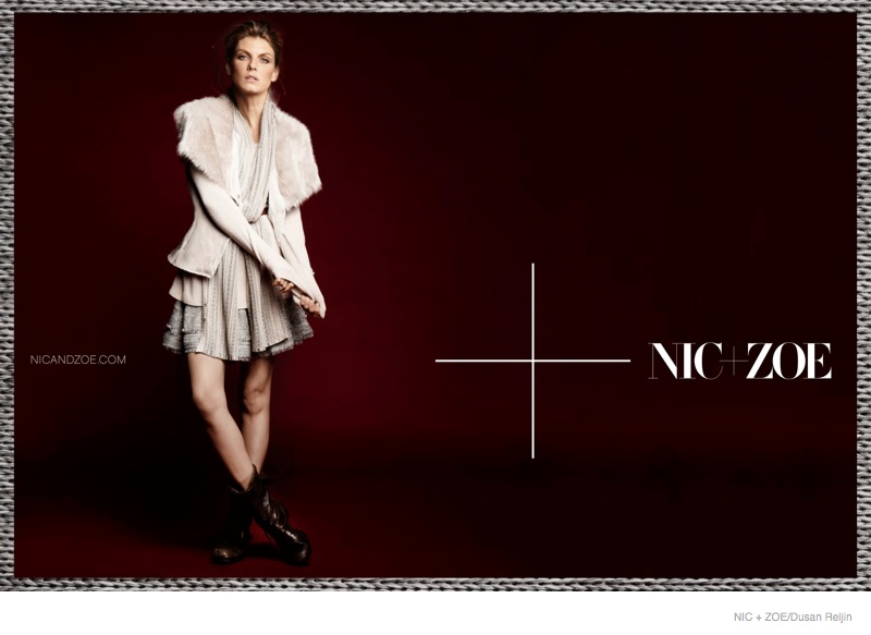 nic zoe sweaters fall 2014 ad campaign03 Angela Lindvall Models Nic+Zoe Knitwear for Fall 2014 Ads