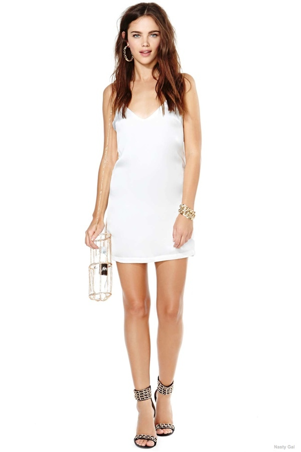 no chain no gain slip dress 7 Slip Style Dresses to Channel the 90s