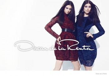 Diana Moldovan + Larissa Hofmann Get Glam in Oscar de la Renta's Fall Ads