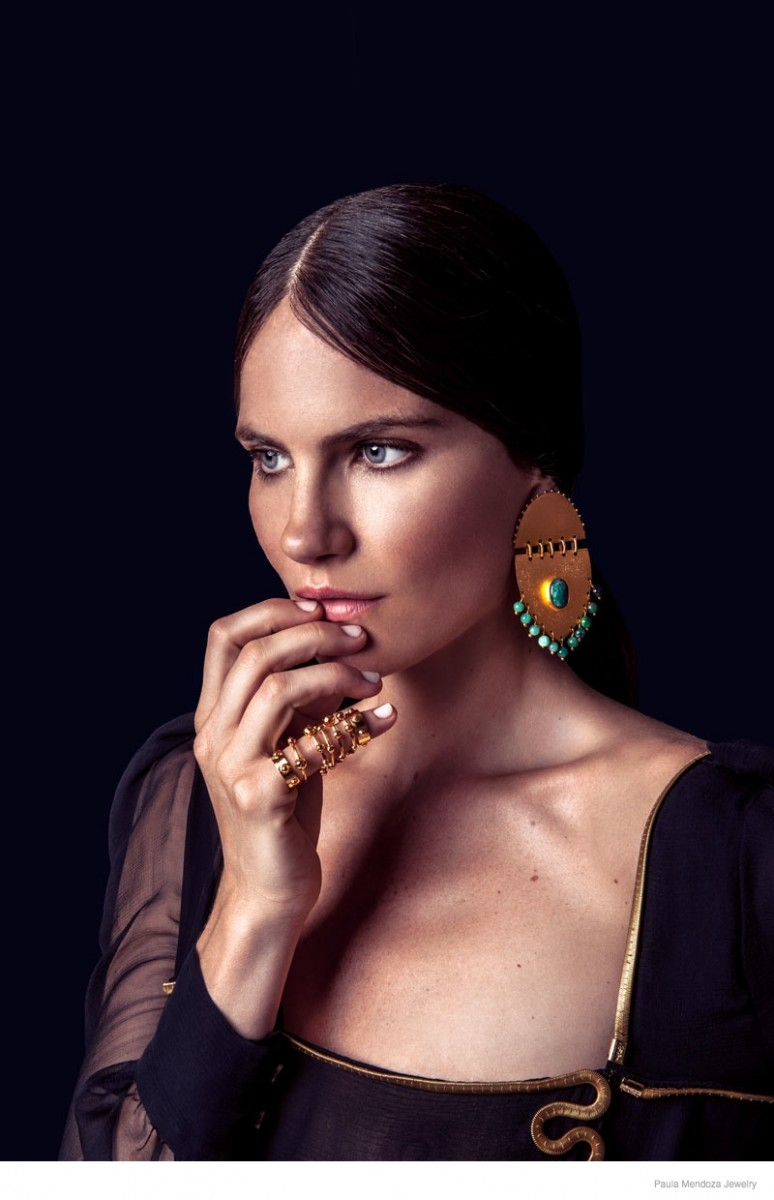 paula mendoza jewelry 2015 spring collection04 774x1200 Missy Rayder Shines in Paula Mendozas Spring/Summer 2015 Jewelry Collection