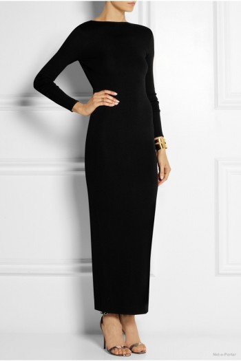 pierre-balmain-stretch-knit-maxi-dress