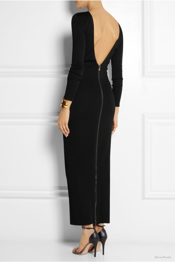pierre-balmain-stretch-knit-maxi-dress1