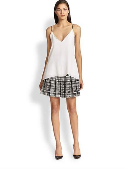 Alice + Olivia Kayla Box-Pleated Skirt available at Shopbop for $297.00