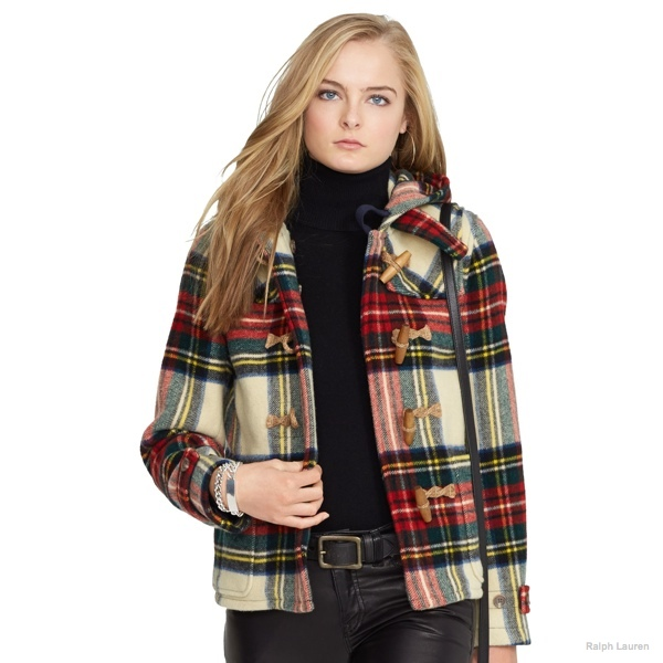 Polo Ralph Lauren Plaid Wool Duffel Coat available at Ralph Lauren for $598.00