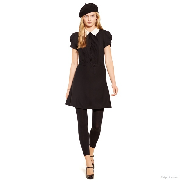 Polo Ralph Lauren Contrast-Collar Crepe Dress available at Ralph Lauren for $498.00