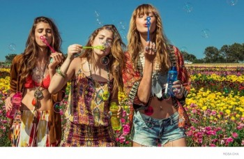Barbara Palvin, Erin Heatherton, Frida Gustavsson Wear Festival Style for Rosa Cha Spring 2015 Ads